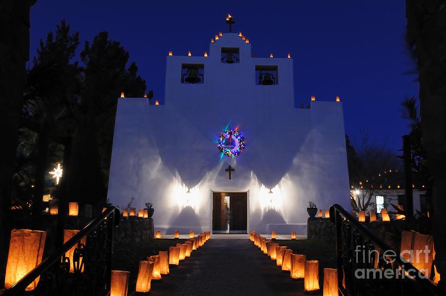 Luminaria Photograph - Luminarias At St Francis De Paula by Vivian Christopher