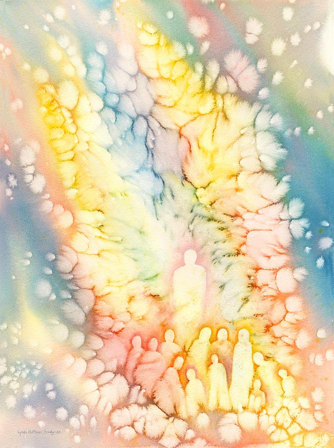 Angels Painting - Luminaries by Lynda Hoffman-Snodgrass