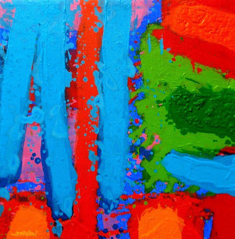 Abstract Painting - Luminous Blues by John  Nolan
