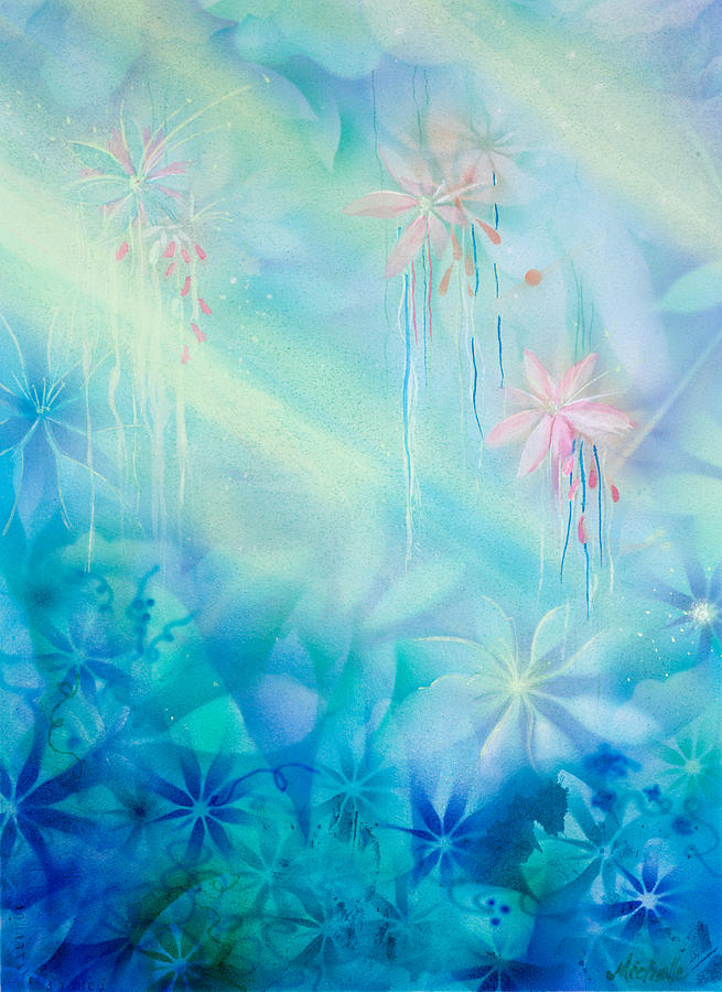 Abstract Painting - Luminous Garden by Michelle Wiarda