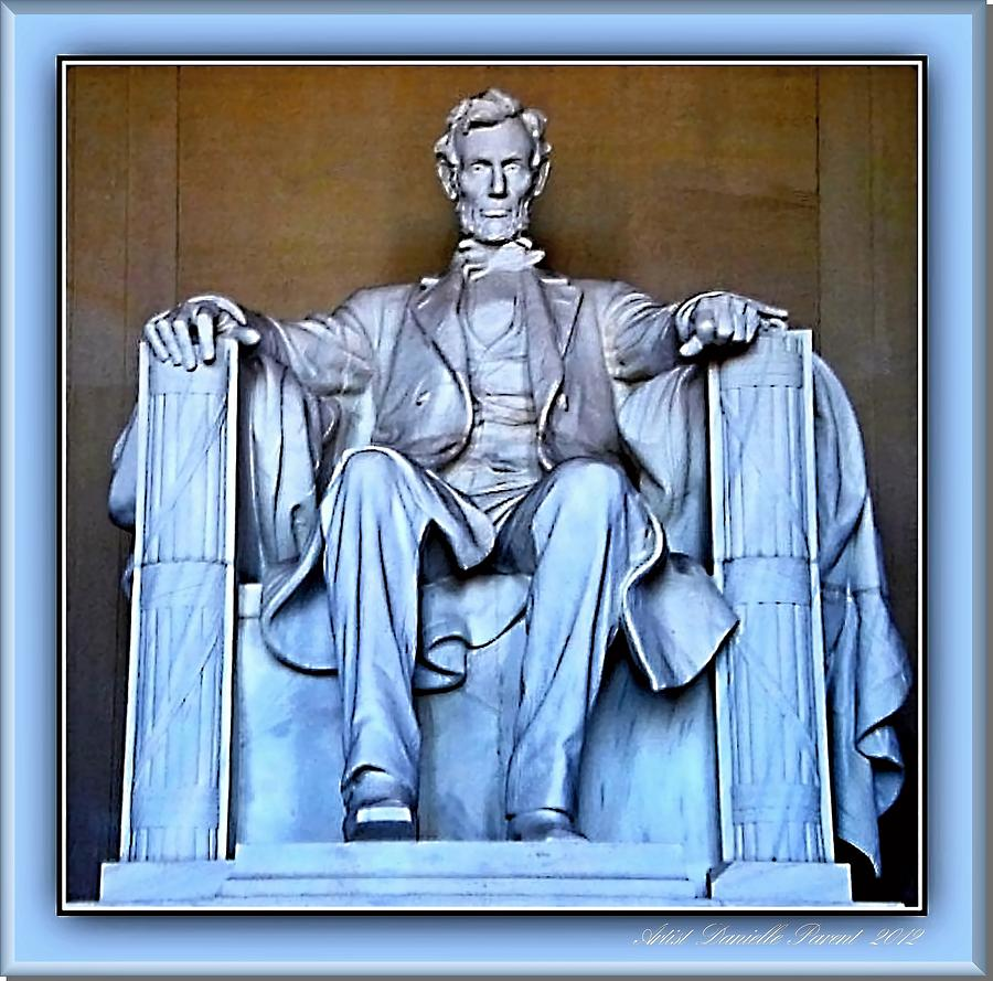 Collection Photograph - Luminous President Lincoln by Danielle  Parent
