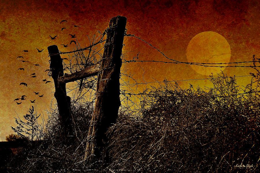 Digital Art Photograph - Luna De Sangre by Karen Slagle