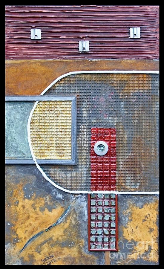 Abstract Mixed Media - Luna by Gertrude Scheffler