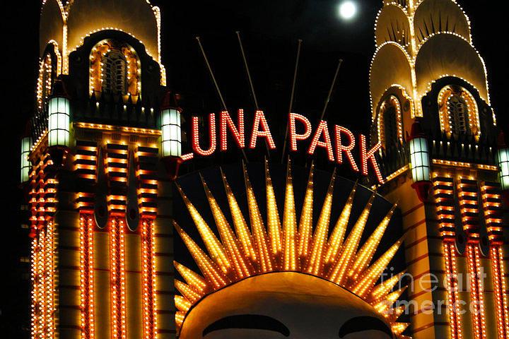Luna Park Digital Art - Luna Park In Sydney by Cheryl Boutwell