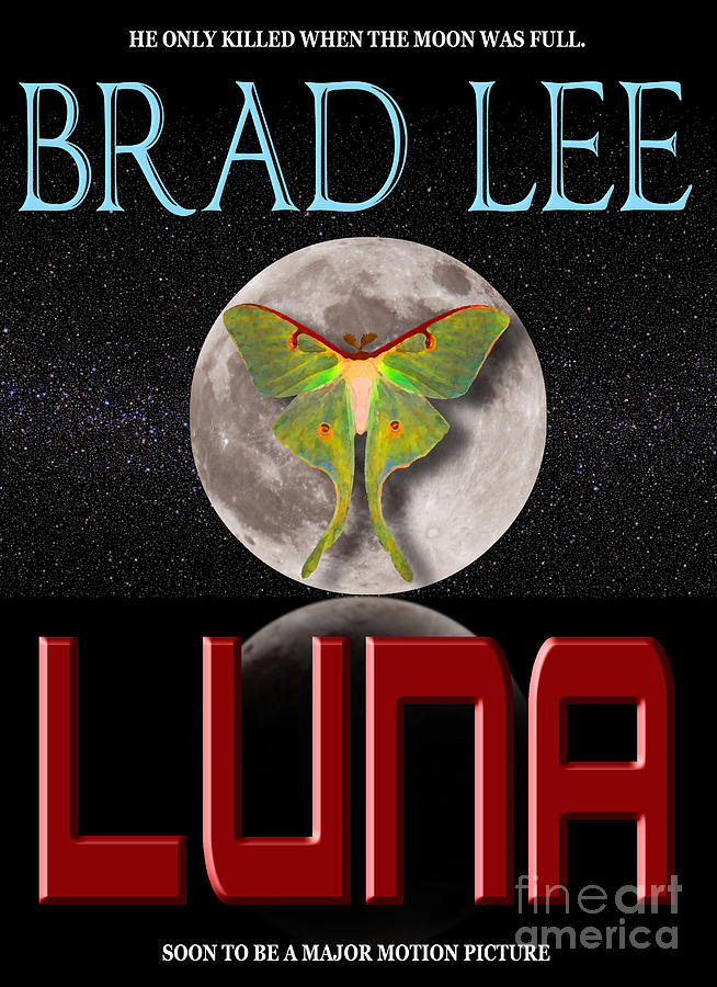 Book Cover Photograph - Luna Sample Book Jacket by Mike Nellums