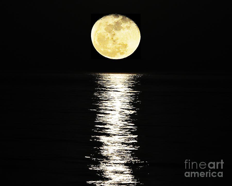 Moon Photograph - Lunar Lane 03 by Al Powell Photography USA