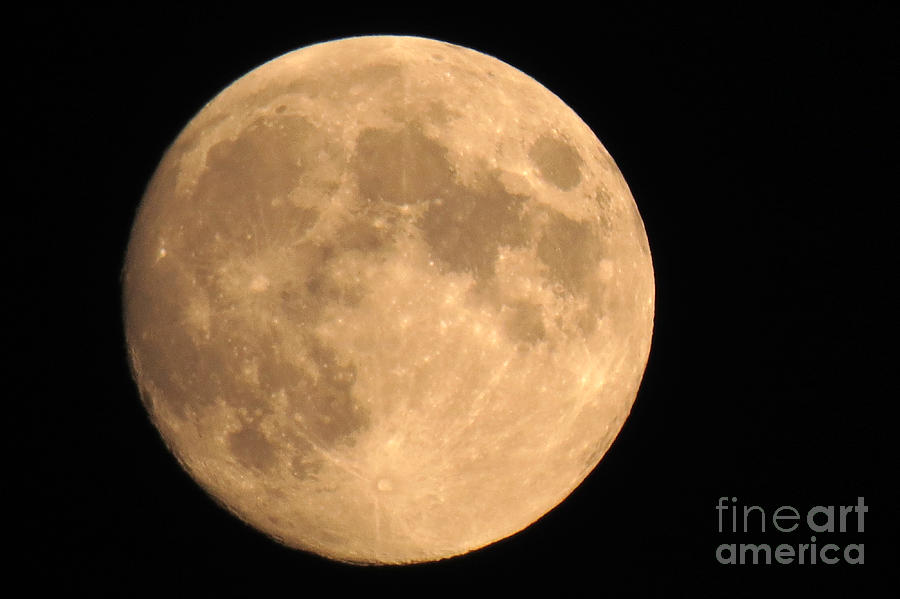 Moon Photograph - Lunar Mood by Mary Mikawoz