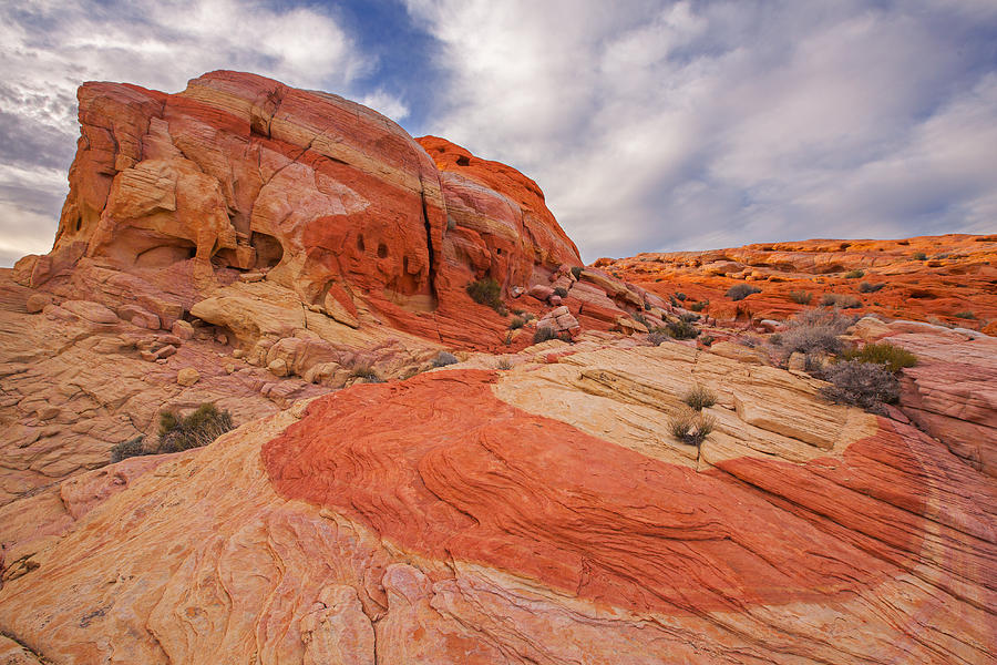 Valley Of Fire Photograph - Lunar Quarter by Tony Santo