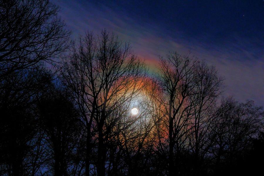 Lunar Rainbow Photograph by David M Jones