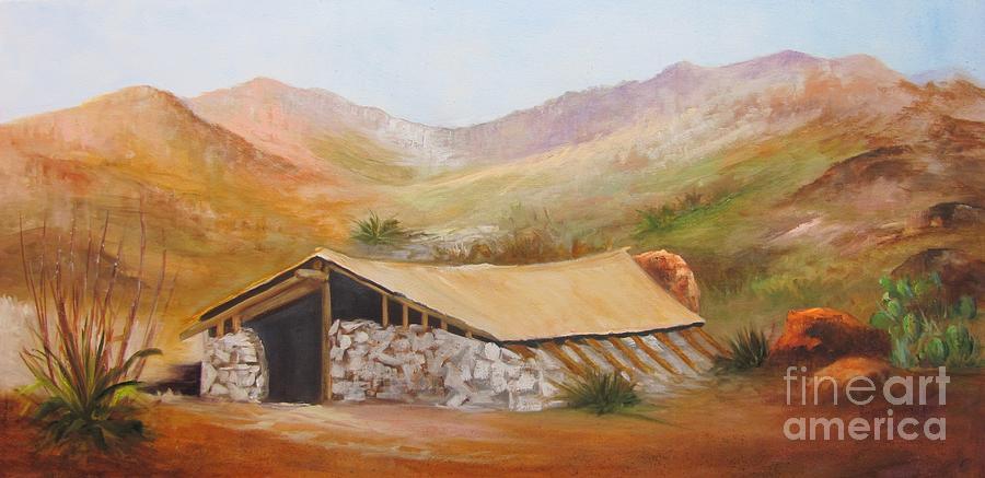 Big Bend National Park Painting - Lunas Jacal by Barbara Haviland