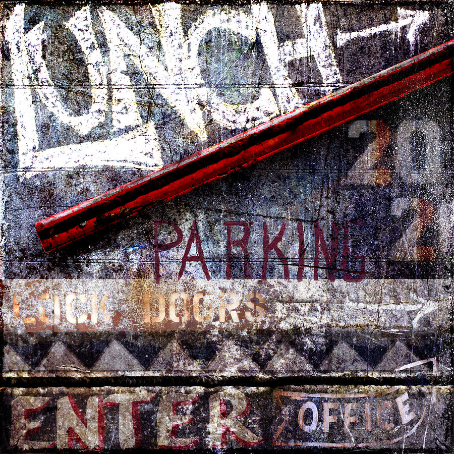 Sign Photograph - Lunch by Carol Leigh