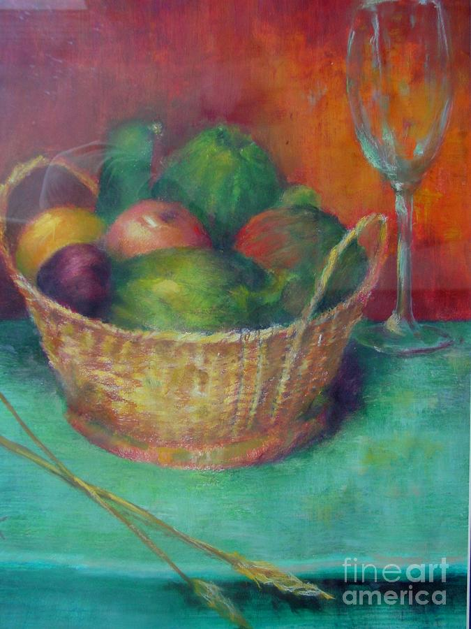Basket Painting - Lunch In Tuscany  Copyrighted by Kathleen Hoekstra