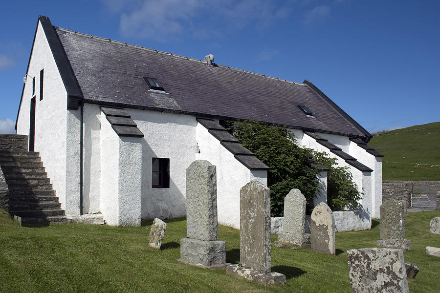 Church Photograph - Lunna Kirk by Steve Watson