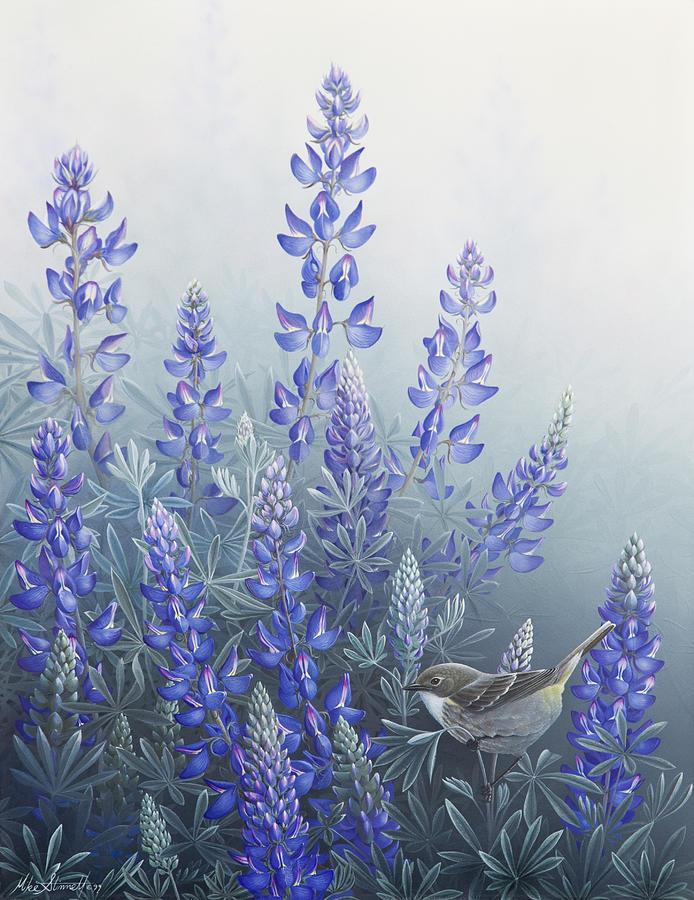 Bird Painting - Lupine by Mike Stinnett