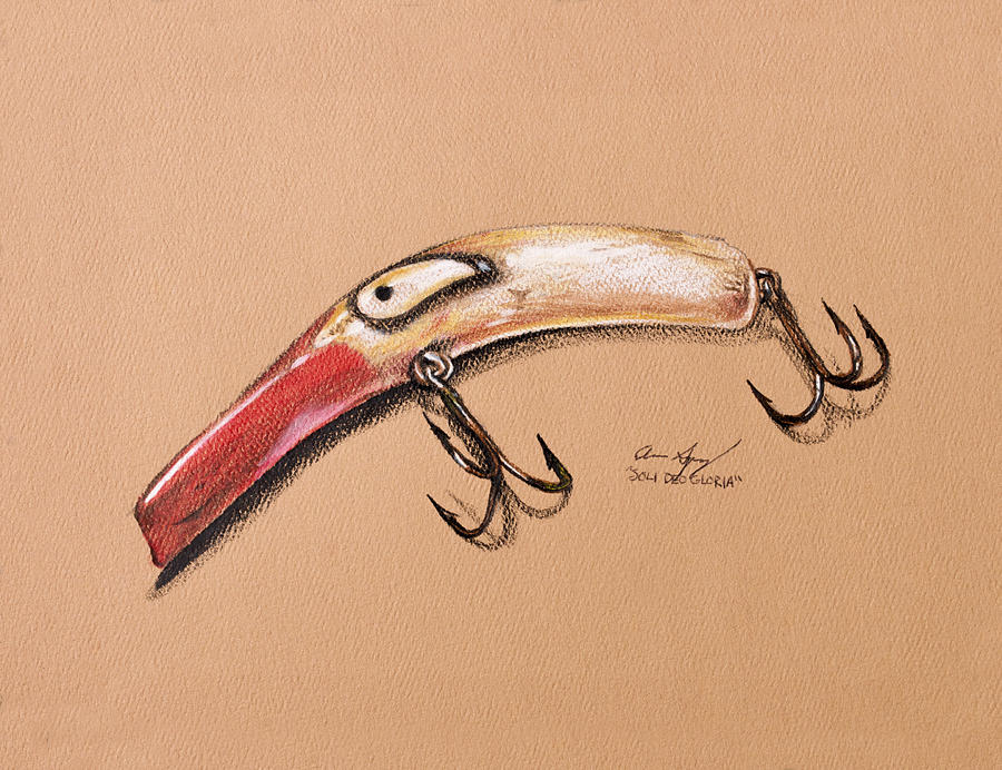 Fish Drawing - Lure by Aaron Spong