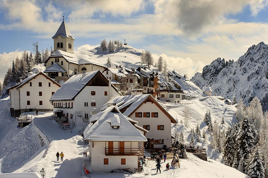 Mountains Photograph - Lussari by Alfio Finocchiaro