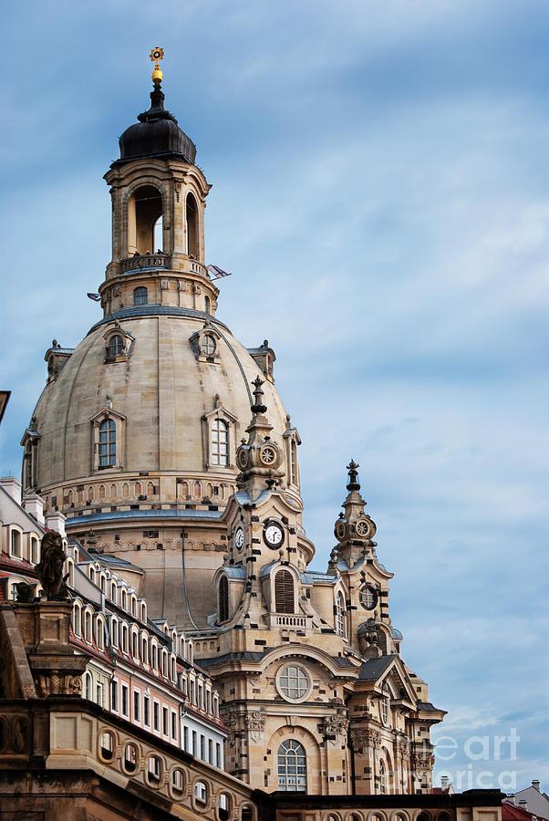 Dresden Pyrography - Lutheran Church In Dresden by Jelena Jovanovic