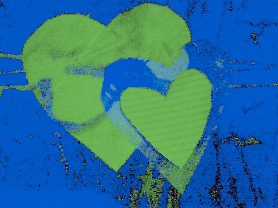 Hearts Mixed Media - Luv-2 by Dorothy Rafferty