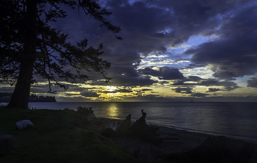 Sunset Photograph - Luv U Blu by Blanca Braun