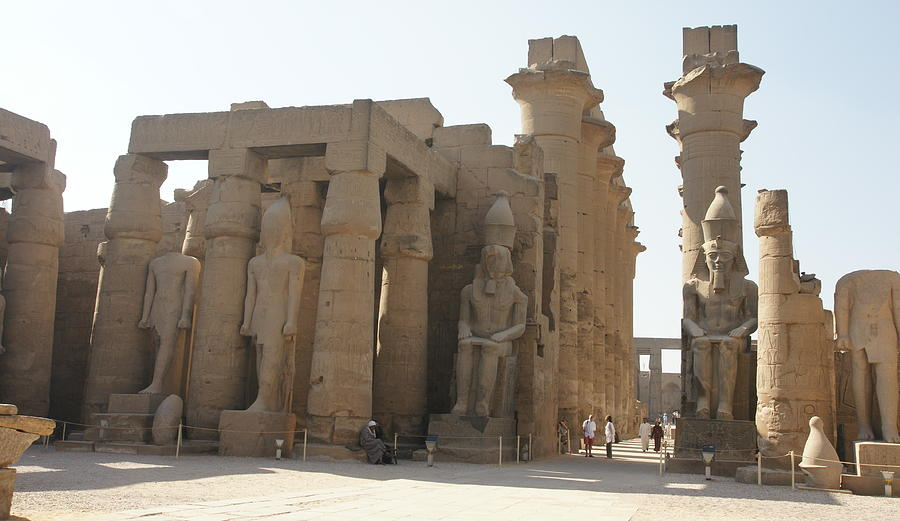 Luxor Temple Photograph - Luxor Temple by Olaf Christian
