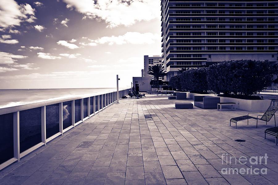 Terrace Photograph - Luxury Beach Club  by Sophie Vigneault