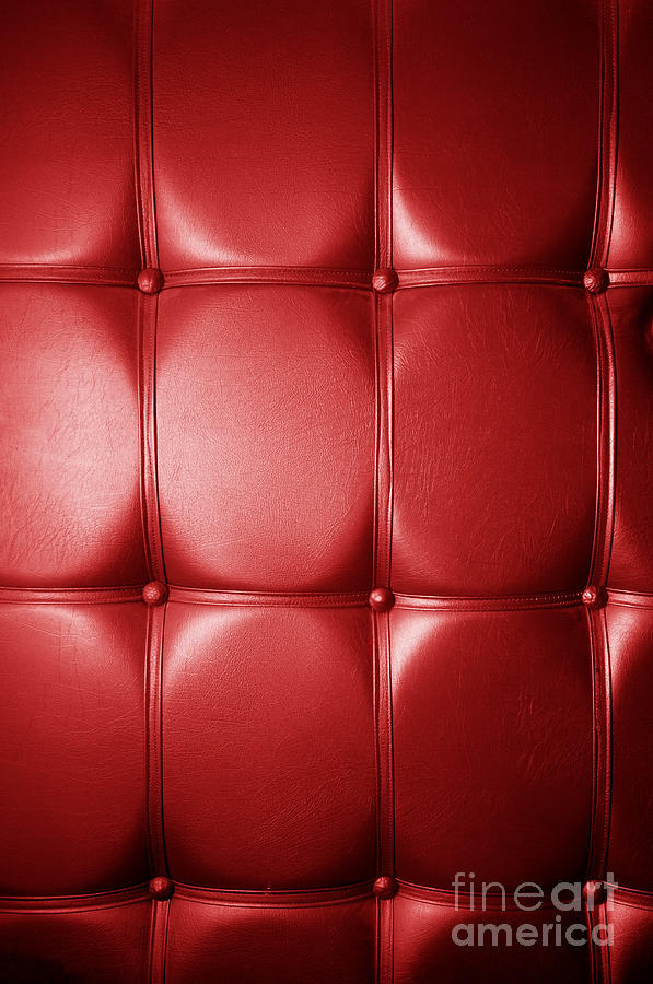 Leather Photograph - Luxury Genuine Leather. Red Color by Michal Bednarek
