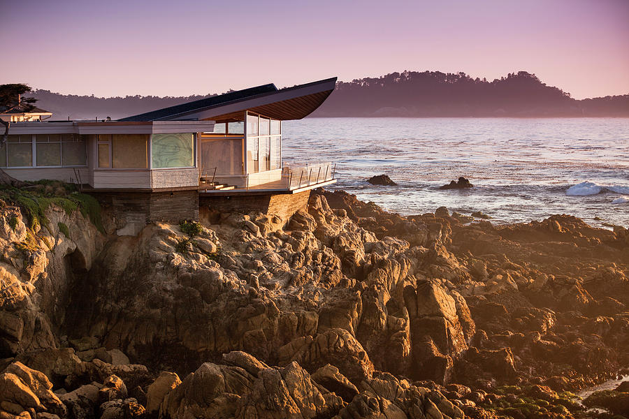 Luxury Home Overlooks The Big Sur Photograph by Pgiam