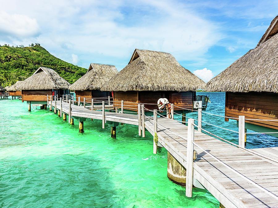 Luxury Hotel Resort Beach Huts Polynesia Photograph by Mlenny