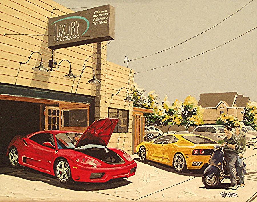 Sacramento Painting - Luxury Motor Cars by Paul Guyer