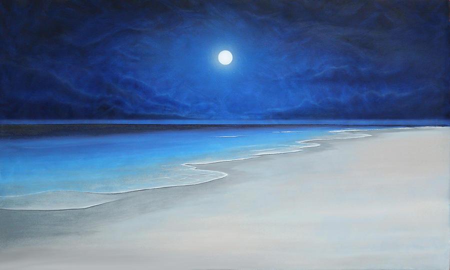 Caribe Painting - Luz De Luna by Angel Ortiz