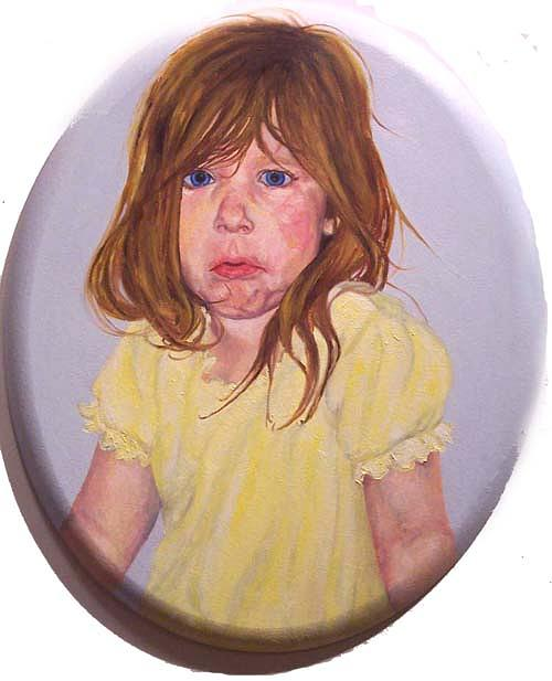 Yellow Painting - Lyndz by Marianne Devine