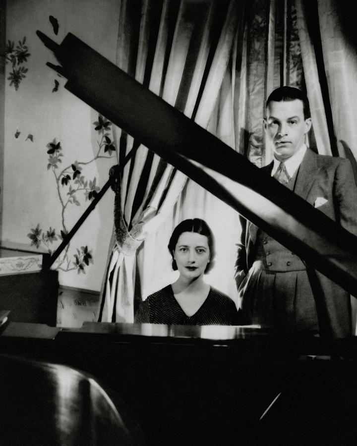 Lynn Fontanne And Alfred Lunt At A Piano Photograph by Cecil Beaton