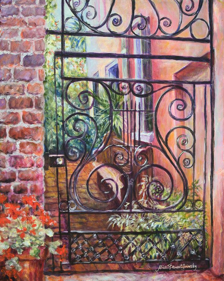 Charleston Painting - Lyrical Gate by Alice Grimsley