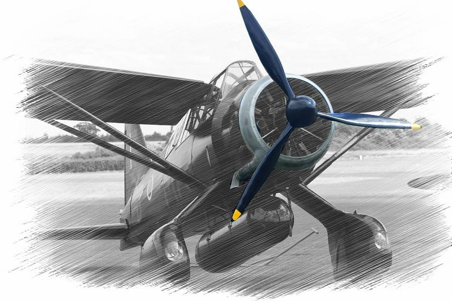 Vintage Aircraft Photograph - Lysander In Readiness by Donald Turner