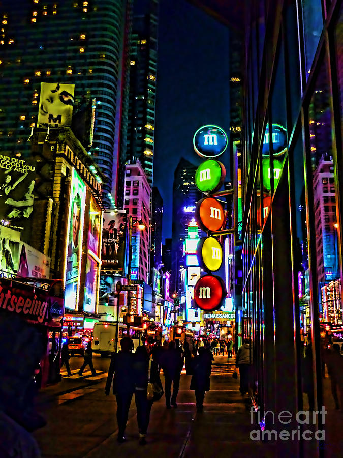 New York City Photograph - m and m store NYC by Jeff Breiman