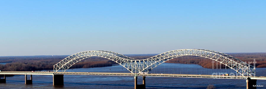 Wall Photograph - M Bridge Memphis Tennessee by Barbara Chichester