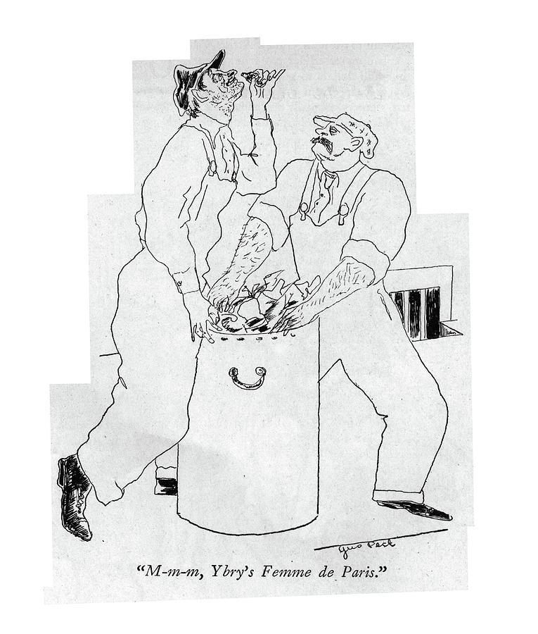Femme De Paris Drawing by Augustus Peck