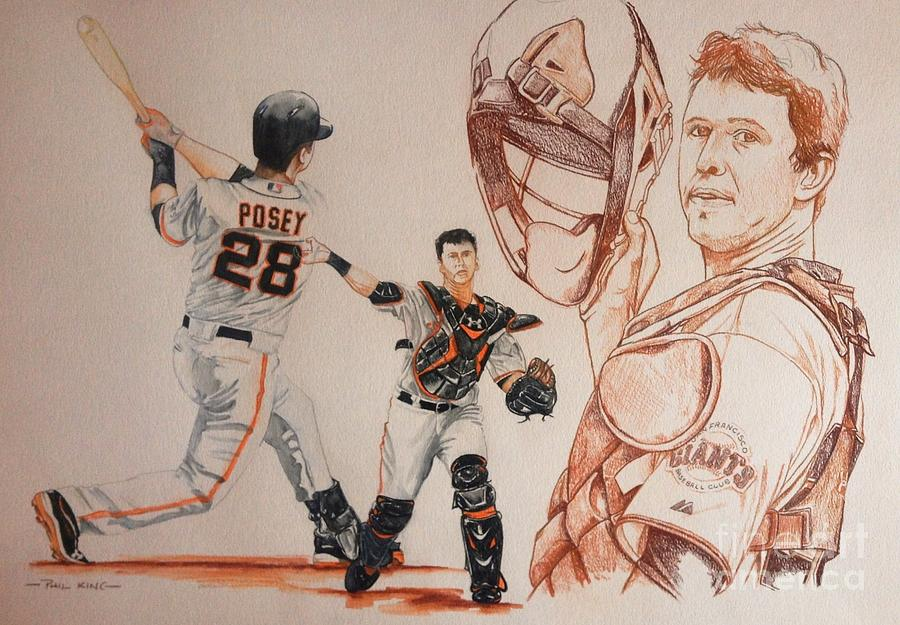Catcher Painting - M V P  by Phil  King