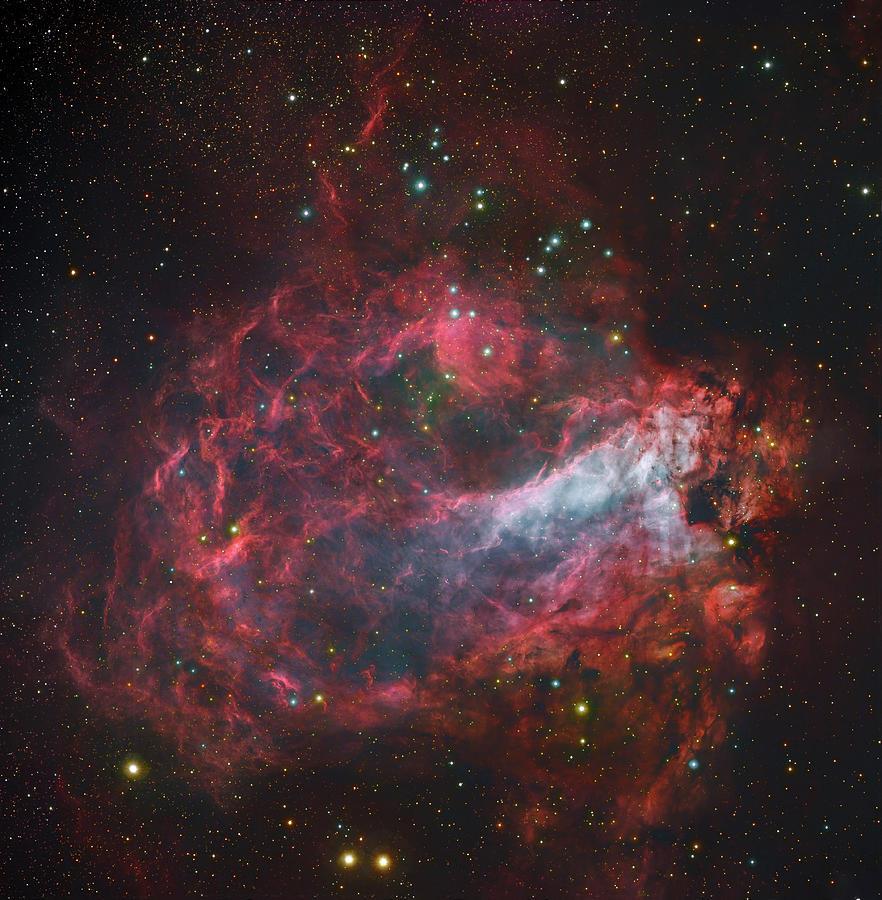 M17, The Omega Nebula In Sagittarius Photograph by Robert Gendler/stocktrek Images