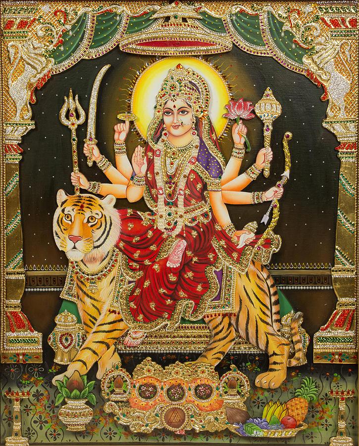 Maa By Vijay Krishna Durga Painting Maram