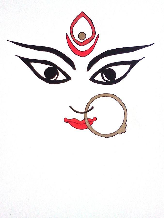 Maa Kali Drawing By Kruti Shah