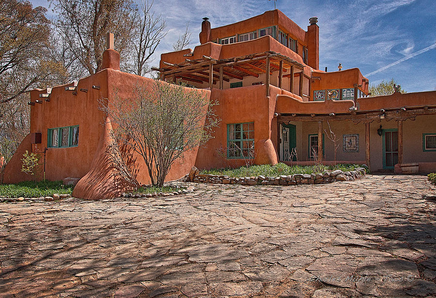 Santa Photograph - Mabel Dodge Luhan House  by Charles Muhle
