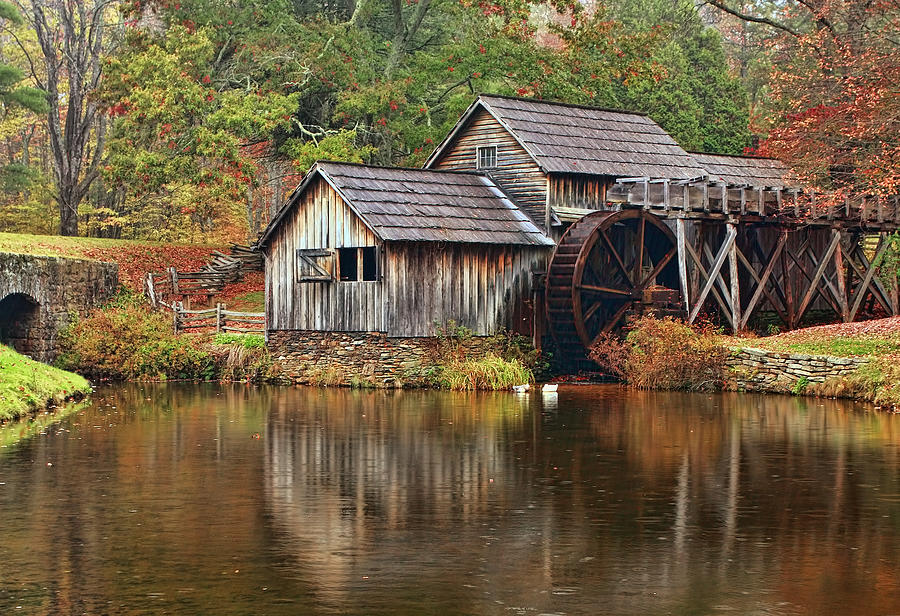 Mabry Mill Photograph - Mabry Mill by Marcia Colelli