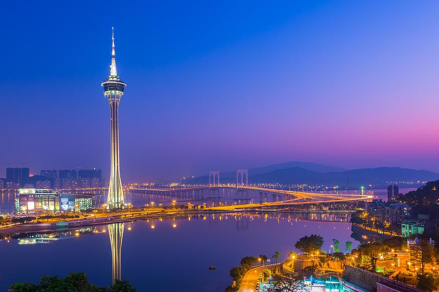 Architecture Photograph - Macau Tower In China by Nattee Chalermtiragool