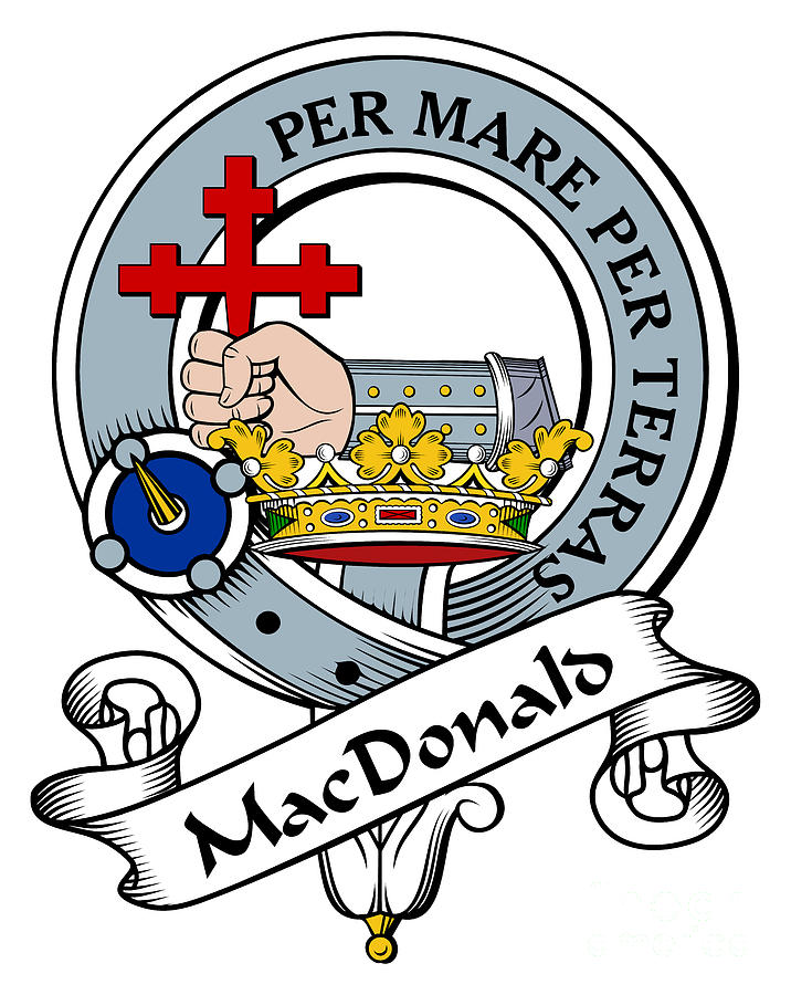 b1091b76b Macdonald Clan Badge Digital Art - Macdonald Of Clan Donald Clan Badge by  Heraldry