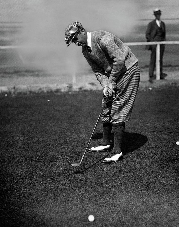 Macdonald Smith Playing Golf Photograph by Fotograms