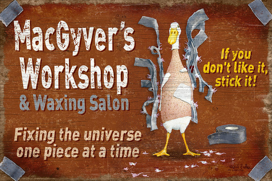 Will Bullas Painting - Macgyvers Workshop by JQ Licensing