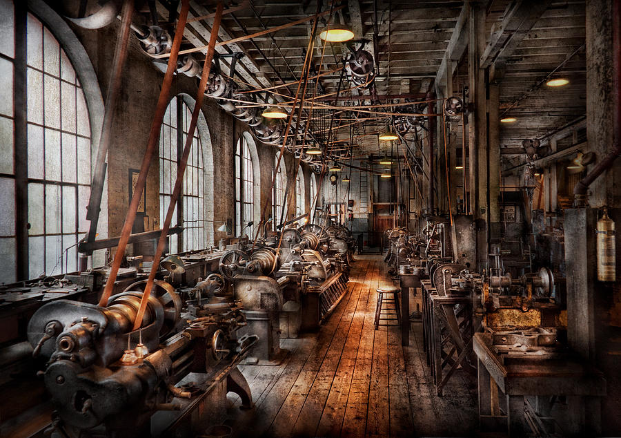 Machinist A Fully Functioning Machine Shop Photograph By