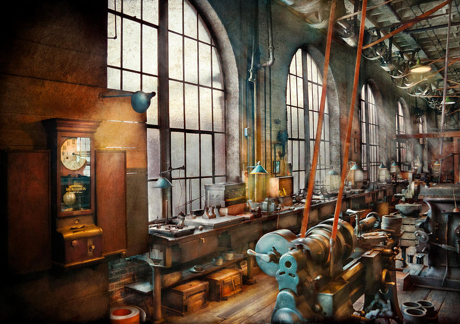 Suburbanscenes Photograph - Machinist - Back In The Days Of Yesterday by Mike Savad