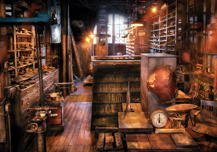 Machinist Photograph - Machinist - Eds Stock Room by Mike Savad